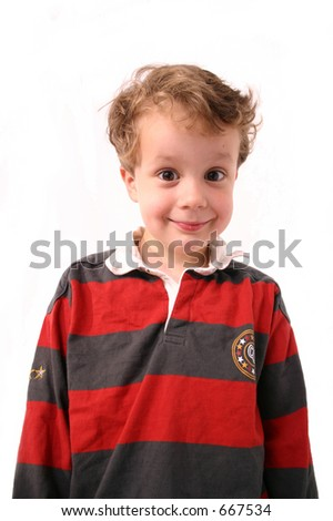 Boy with funny expression
