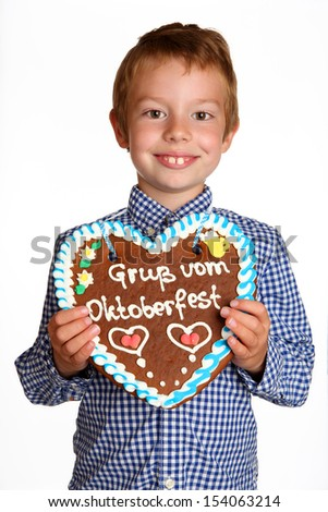 boy with gingerbread heart