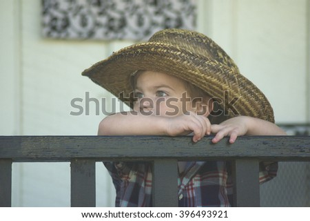 Boy with hat - stock photo