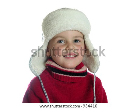 boy with hat with earflaps