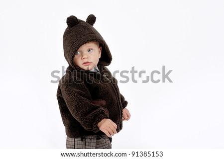 boy with hood - stock photo