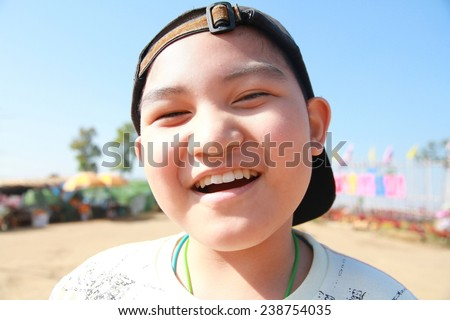 boy with smile - stock photo