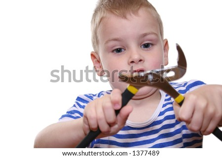 boy with tool
