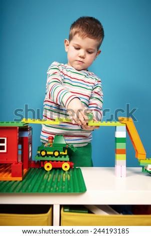 Boys and toys - stock photo