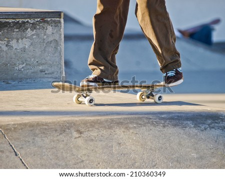 boys skate - stock photo