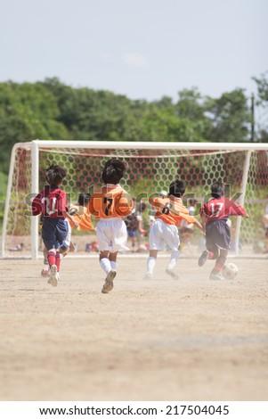 Boys soccer - stock photo