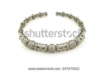 Bracelet isolated on a white background - stock photo