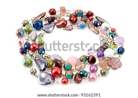 Bracelet isolated on white - stock photo