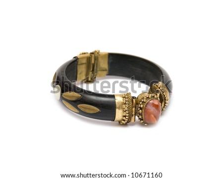 bracelet on the white - stock photo