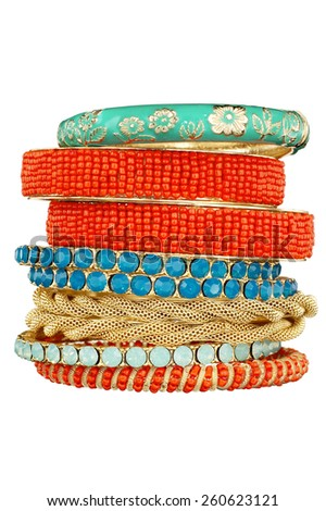 Bracelet Stack - stock photo