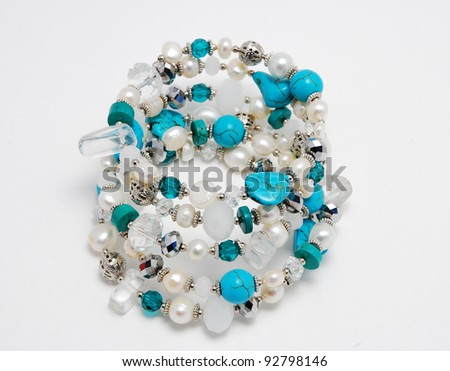 Bracelet with pearls - stock photo
