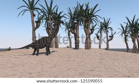 brachiosaurus on send terrain