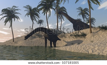 brachuosaurus on shore
