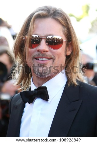 Brad Pitt arriving for the Killing them softly premiere, Cannes Film Festival. 22/05/2012 Picture by: Henry Harris / Featureflash - stock photo