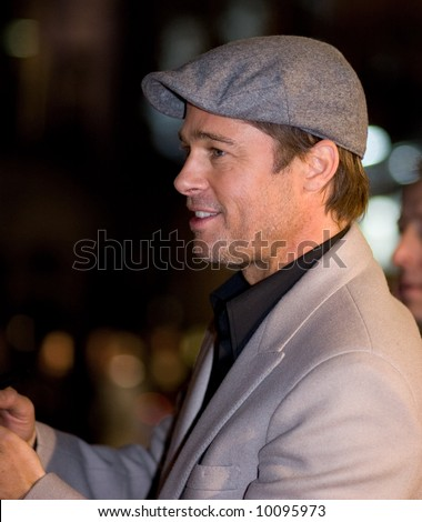 Brad Pitt at the european premiere of 'Beowulf' at the Vue cinema on November 11, 2007, London, England. - stock photo