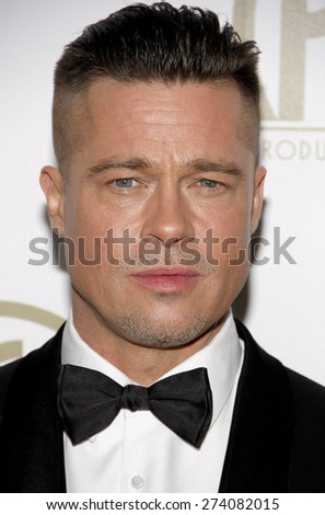 Brad Pitt at the 25th Annual Producers Guild Awards held at the Beverly Hilton Hotel in Los Angeles on January 19, 2014 in Los Angeles, California.  - stock photo