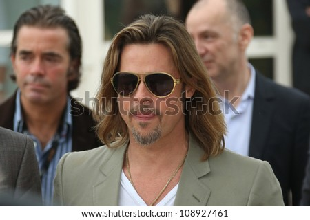 Brad Pitt during the 'Killing them Softly' photocall during the 65th Cannes Film Festival, Cannes, France. 22/05/2012 Picture by: Henry Harris / Featureflash - stock photo