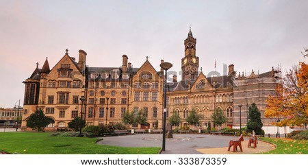 Bradford Town Hall, West Yorkshire, UK - stock photo