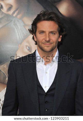 "Bradley Cooper at the Los Angeles premiere of ""The Words"" at the Arclight Theatre, Hollywood. September 4, 2012  Los Angeles, CA Picture: Paul Smith - stock photo"