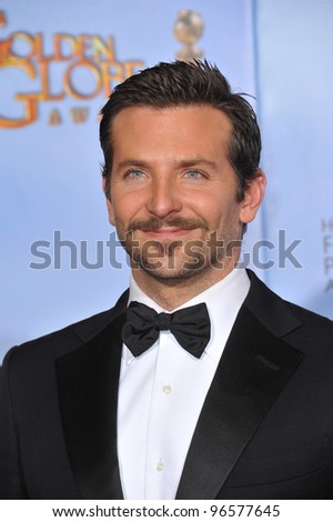 Bradley Cooper at the 69th Golden Globe Awards at the Beverly Hilton Hotel. January 15, 2012  Beverly Hills, CA Picture: Paul Smith / Featureflash - stock photo