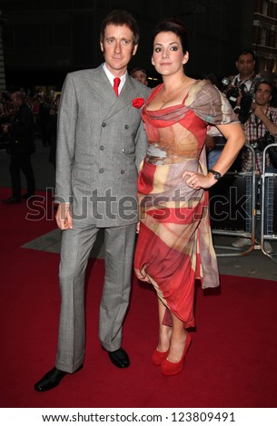 Bradley Wiggins and wife Kath arriving for the 2012 GQ Men Of The Year Awards, Royal Opera House, London. 05/09/2012 Picture by: Alexandra Glen