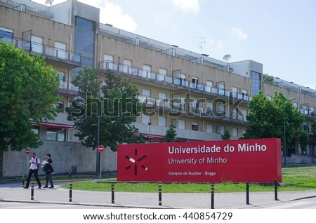 BRAGA, PORTUGAL -13 JUNE 2016- The Gualtar Braga campus of the University of Minho (Universidade do Minho) in Portugal.