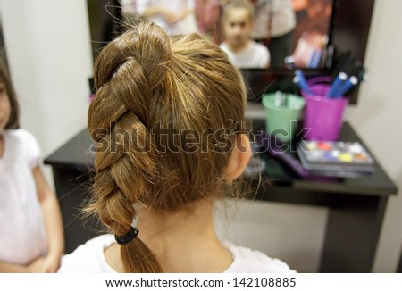 Braid haircut - stock photo