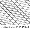 Braided wire steel net on white industrial abstract textured seamless background - stock photo