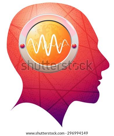 Brain Activity - Illustration - stock photo
