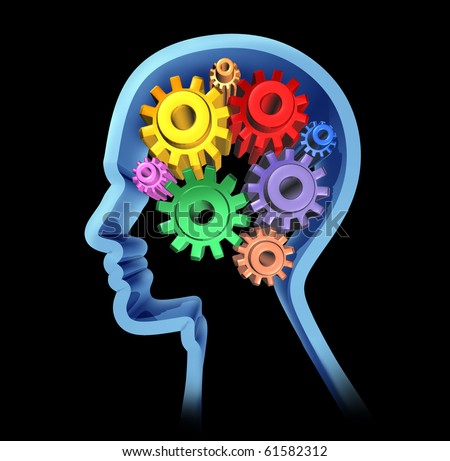 Brain activity intelligence cognitive function - stock photo