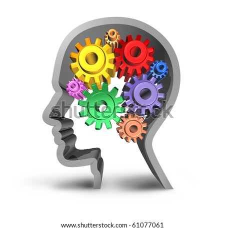 Brain activity intelligence isolated - stock photo