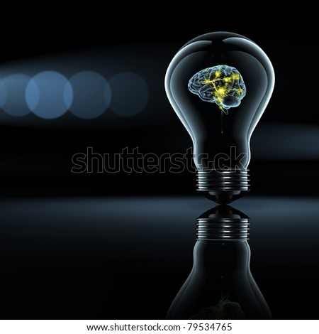 brain and thinking - stock photo