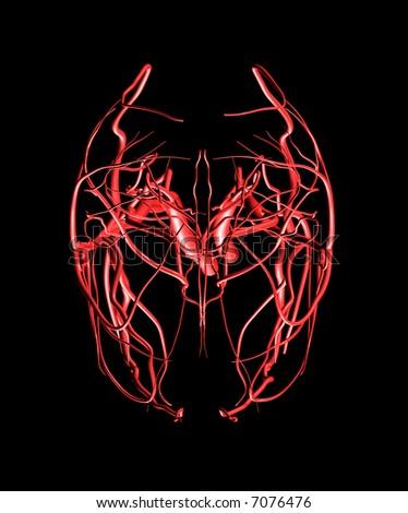 Brain Arteries Top - stock photo