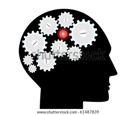 Brain, cerebral disease - stock photo