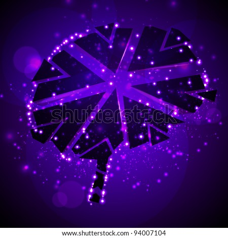 Brain crushing, abstract light background - stock photo