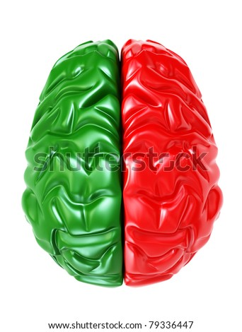 brain 3d - stock photo