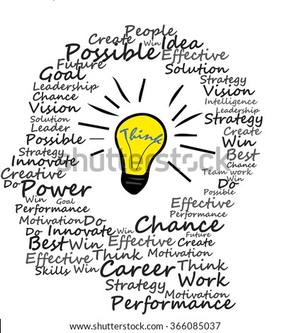 Brain Design On The White Background Thinking Person With Lightbulb Idea And Creative Concept