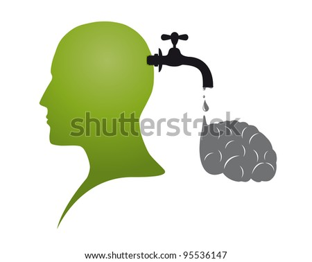 Brain drain - stock photo