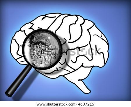 Brain Fingerprint - Identity - Personality - Analysis - stock photo