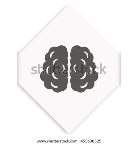 Brain icon. - stock photo