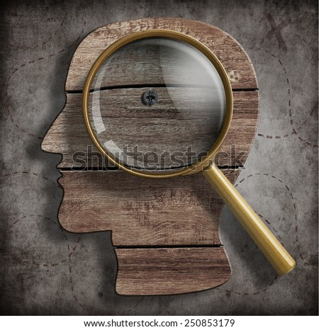 Brain or psychology problem research concept - stock photo