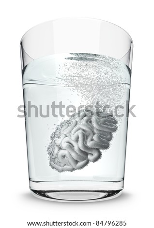 Brain seltzer - stock photo