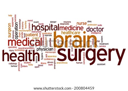 Brain surgery concept word cloud background - stock photo