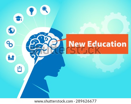 Brain Icons Business Symbols Text New Stock Illustration 289626677