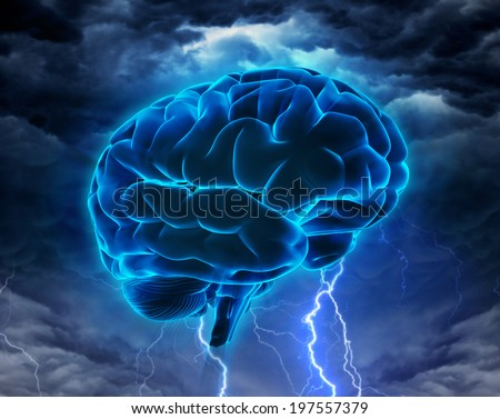 Brainstorm or Intelligence Powerful concept - stock photo