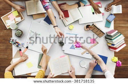 Brainstorming Group of people Working Concept - stock photo
