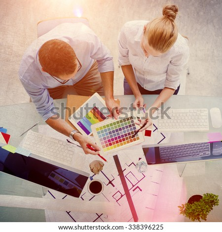 Brainstorming Planning Partnership Strategy Administratation Concept - stock photo