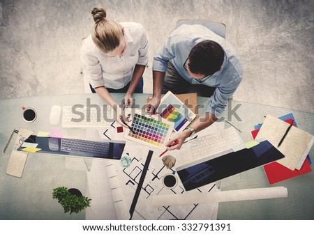 Brainstorming Planning Partnership Strategy Administration Concept - stock photo