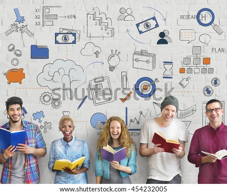 Brainstorming Strategy Creative Thinking Symbol Concept - stock photo