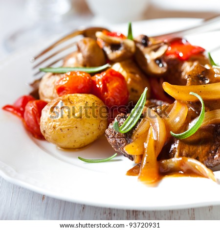 Braised Lamb With Roasted Squash And Onion Sauce Recipe ...
